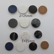 10 pcs cabochons en plastique 22mm/25mm