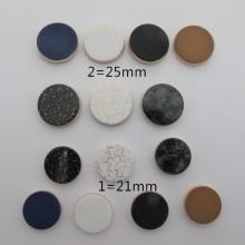 10 pcs cabochons en plastique 21mm/25mm