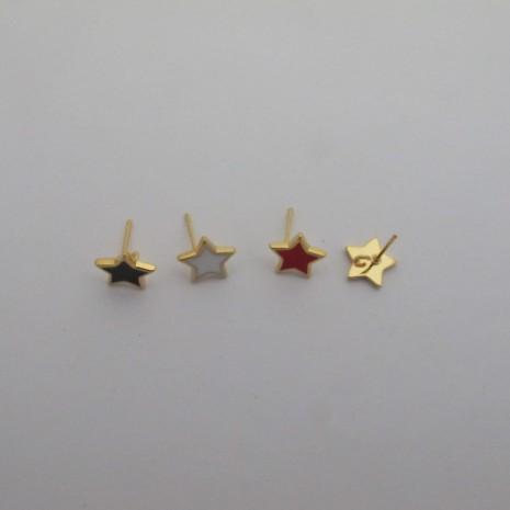 10 pcs tiges avec anneau étoile 10mm
