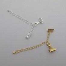 10 pcs Clasp chain clip ribbon 10mm