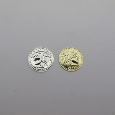 30 pcs  sequins  pièce de monnaie rond 20mm