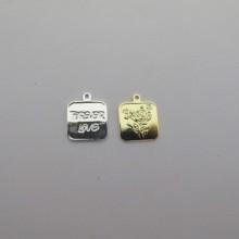 15 pcs  sequins  pièce de monnaie carré 15x15mm
