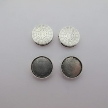 50 pcs Cabochon holder 18mm for leather 14x2mm
