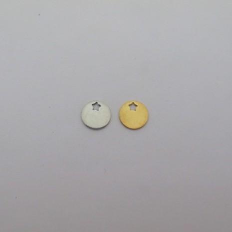 10 pcs pendentif & Breloques 12mm acier inox