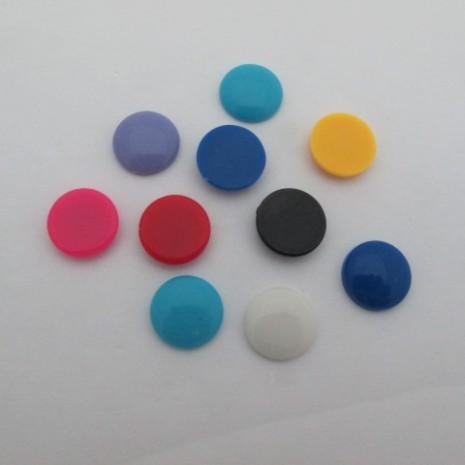 100 pcs cabochons en plastique 16mm