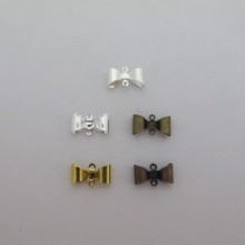 100 pcs bow tie connectors 15x8mm