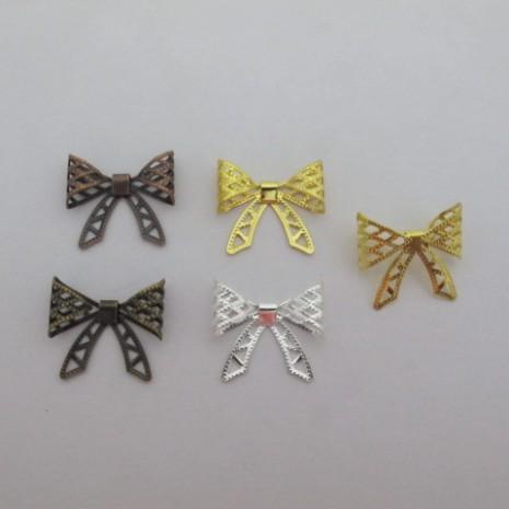 50 pcs connecteurs noeud papillon22x19mm