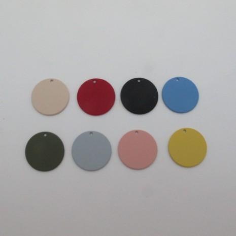 30 Sequins ronds teinté 22mm