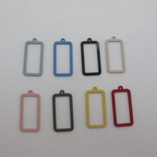 30 Tinted Square Sequins 34x17mm