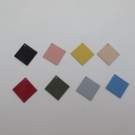 30 Sequins carré teinté 34x17mm