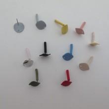 30 pcs CLOUS D'OREILLES 12mm