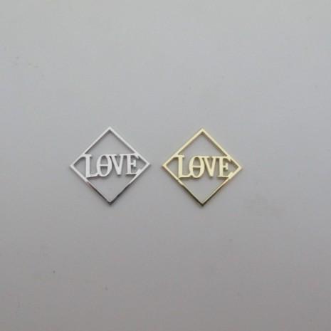 20 pcs carré love intercalaire 20mm