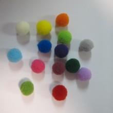 150 Mélange de pompons en textile 10mm