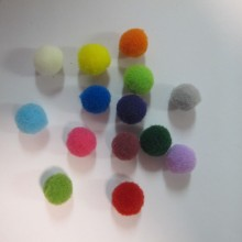 150 Mixed textile pompons 10mm