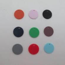 50 pcs Sequins round 15mm plastic matt
