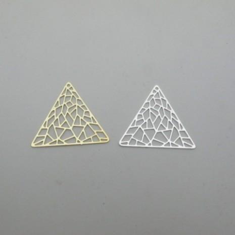 10 pcs pendentif  triangle 39x34.5mm