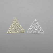 10 pcs Pendant triangle 39x34.5mm