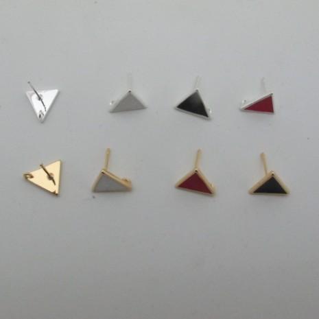 10 pcs tiges avec anneau triangle 11mm