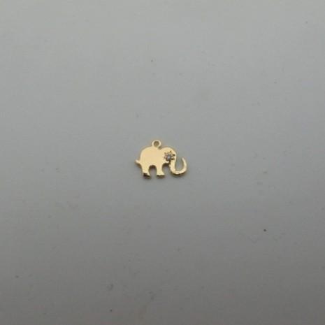 10 pcs breloque éléphant 10x8mm