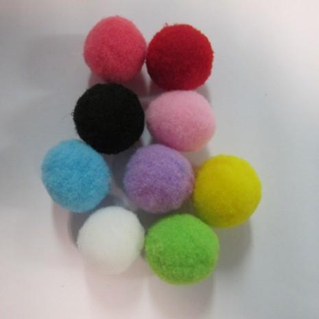 30Mélange de pompons en textile 20mm