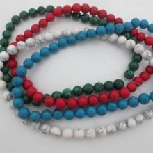 Semi-precious stones. round - 40 cm wire