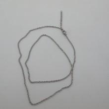 10 pcs colliers chainettes forçat 53cm en acier inox