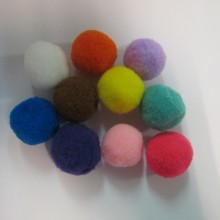 20 Mixed textile pompons 25mm