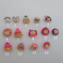 10 Doll's head beads in clay to cook