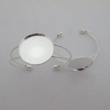 5 pieces Bracelet serti pour cabochon rond 25mm
