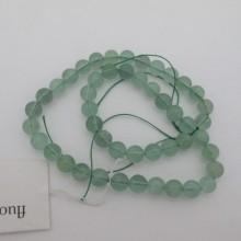 Round Fluorite- 40cm wire
