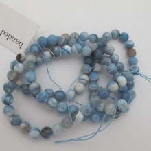 Banded agate round- String of 40cm
