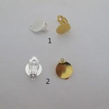 50 pieces Clips plats 15mm a coller