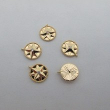 10 Pendants 14x12mm Gold plated