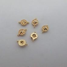 10 Intercalaires10x6mm  Doré à l'or fin