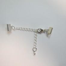 50 Clasp chain clip ribbon 10mm