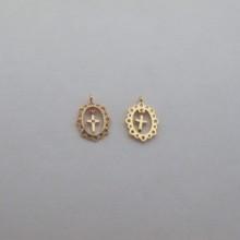 10 pcs Pendants 14x10mm Gold plated