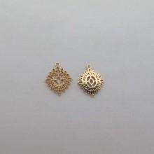 10 pcs Pendants 14x12mm Gold plated