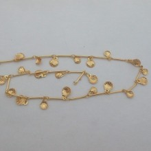 1 mts Shell Fancy Chain 9mm Gold plated