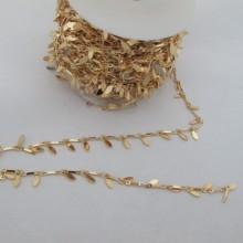 1m Fancy chain shuttle 7mm Gold plated