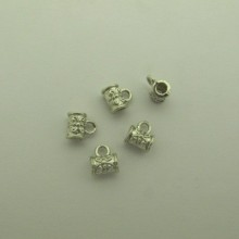 100 pcs Pendant Clips 8x9mm for cord 3 mm