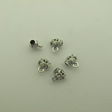 50 pcs Pendant Clips 9x10mm for cord 3.50 mm