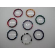 20 pcs Pendentif cercles  en acétate 20mm/25mm/30mm