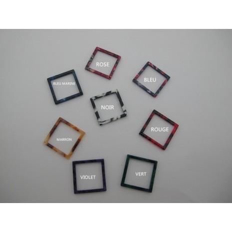 20 pcs Pendentif carré en acétate 20mm/25mm/30mm