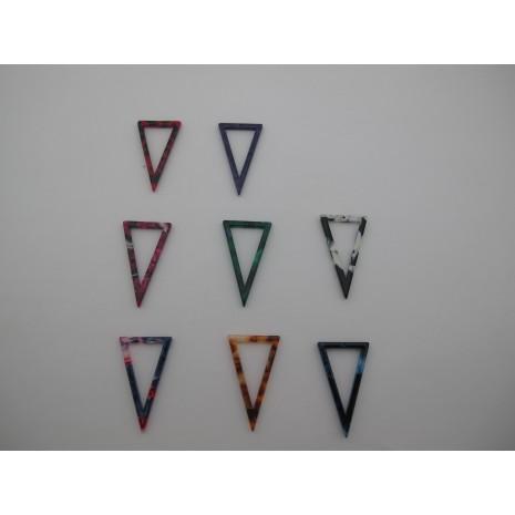 20 pcs Pendentif  triangle  en acétate 34x20mm