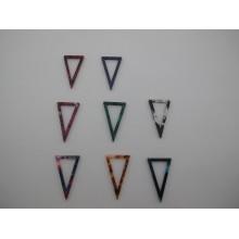 20 pcs Acetate triangle pendant 34x20mm