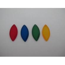 Oval resin pendant 34x16mm - 20 pcs