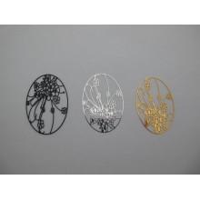 Oval filigree stamps 41x28mm - 20 pcs