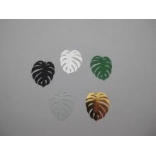 Estampes filigrane feuille 30x25mm - 30 pcs
