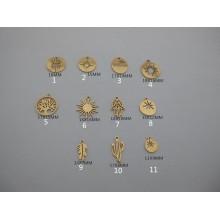 10 pcs pendentif  acier inoxydable