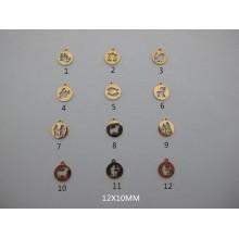 10 pcs pendentif  signe astro acier inoxydable